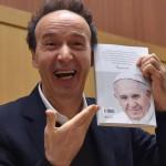 Italian actor Roberto Benigni during the presentation of the book ' The name of God is Mercy' (Il nome di Dio e' Misericordia), Rome, Italy, 12 January 2016.  ANSA/ETTORE FERRARI