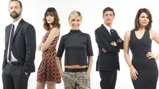 Il quintetto di conduttori che si divide nelle due serate di messa in onda: Fabio Volo, Miriam Leone, Nadia Toffa, Pif e Geppi Cucciari