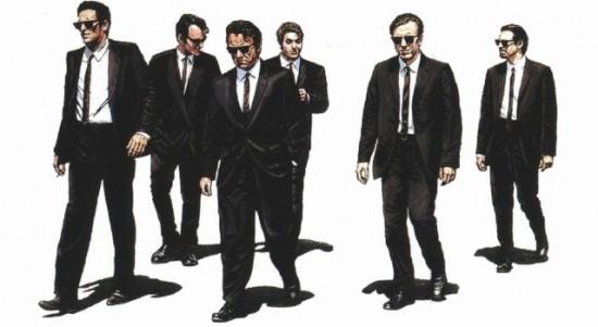 Il cast del film tarantiniano, tra i quali Michael Madsen, Quentin Tarantino e Harvey Keytel