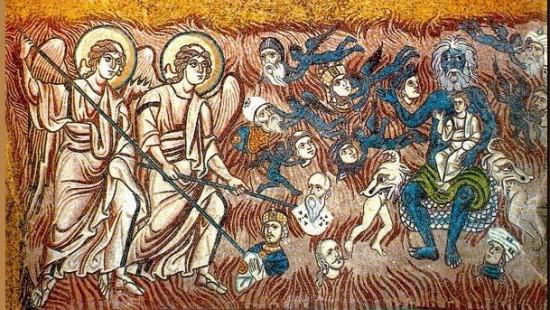 Una scena del Giudizio universale, nella Basilica di Torcello a Venezia