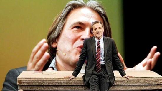 Massimo Giannini e, sullo sfondo, Antonio Campo Dall'Orto