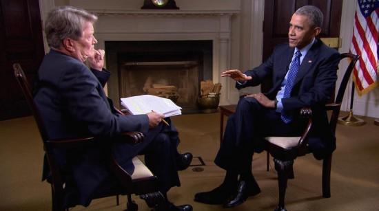 Il presidente Barack Obama intervistato da Steve Kroft per 60 Minutes