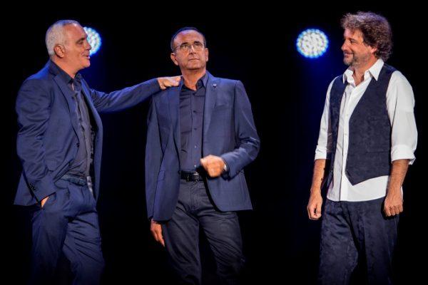 Giorgio Panariello, Carlo Conti e Leonardo Pieraccioni durante lo show «Aria Fresca»