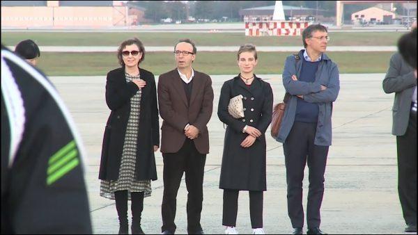 Una parte della delegazione italiana che ha partecipato alla «State dinner»: Roberto Benigni, Bebe Vio e Raffaele Cantone