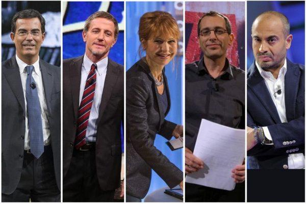 Alcuni volti dei talk show di La7. Nell'intervista al «Fatto quotidiano» Enrico Mentana ha definito «ingombranti» alcuni di loro