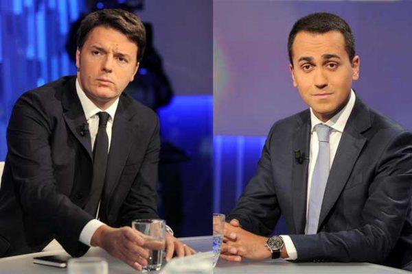 Matteo Renzi e Luigi Di Maio, futuri avversari alle prossime elezioni a Palazzo Chigi