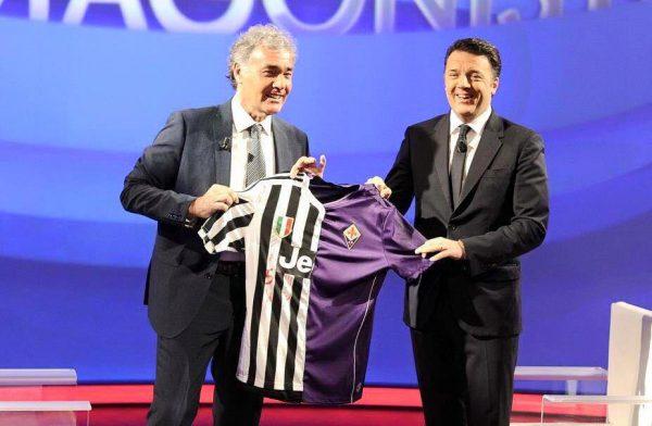Discutibile compromesso calcistico tra Renzi e Giletti all'«Arena» di Rai 1