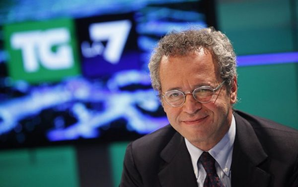 Enrico Mentana, direttore del Tg La7 e dei programmi giornalistici della rete