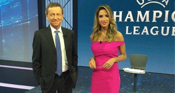 Sandro Sabatini e Giorgia Rossi, i due conduttori di «Premium Champions»