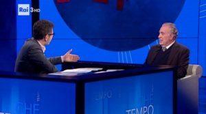 Michele Santoro ospite di «Che tempo che fa» il 27/11/2016