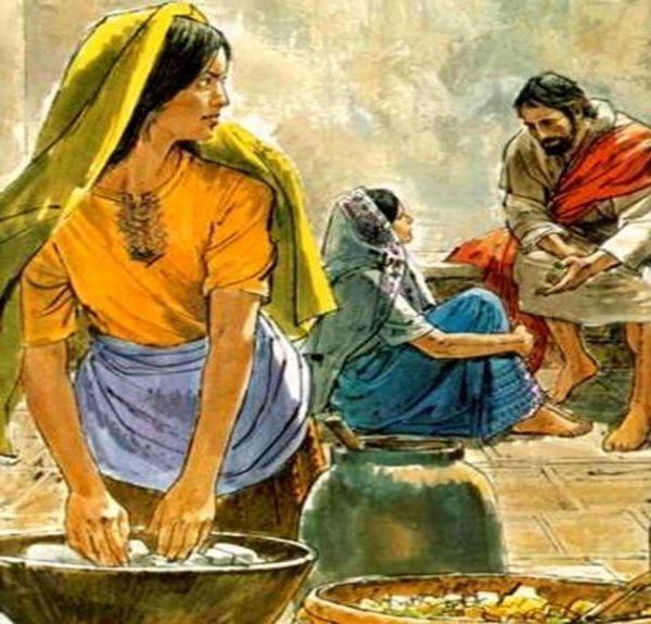 Marta e Maria con Gesù