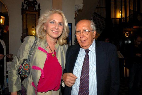 Paola Severini con Piero Melograni, morto nel 2012
