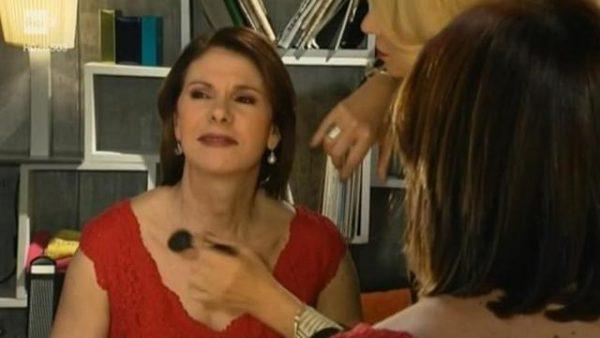 Bianca Berlinguer durante la parodia della Bignardi di Gabriella Germani