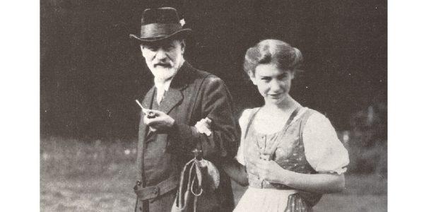 Sigmund Freud a Renon con la moglie