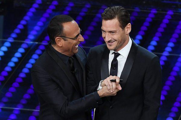 Francesco Totti all'ultimo Festival di Sanremo