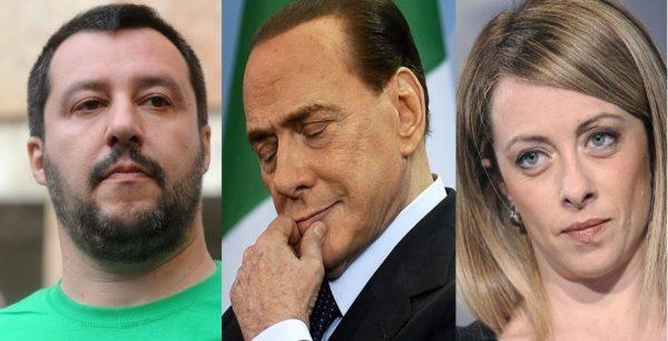 Salvini, Berlusconi e Meloni. Per Tarchi un'intesa senza futuro