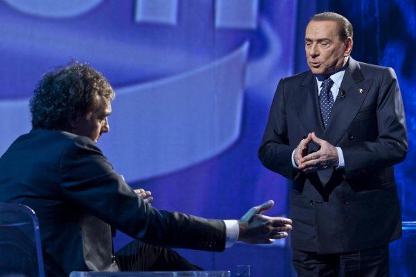 Berlusconi all'Arena, quando stava per abbandonare lo studio