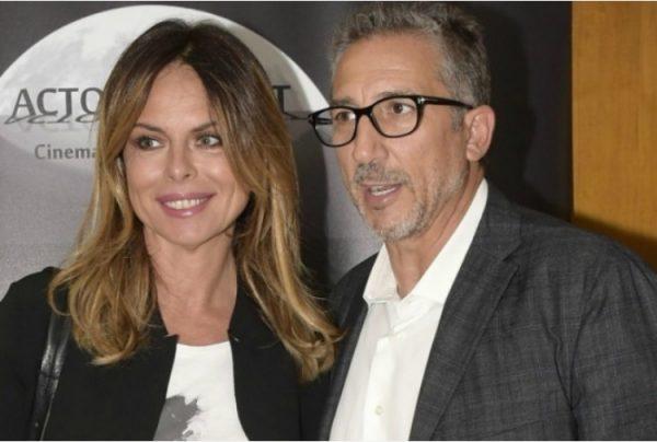Paola Perego con Lucio Presta, manager e marito