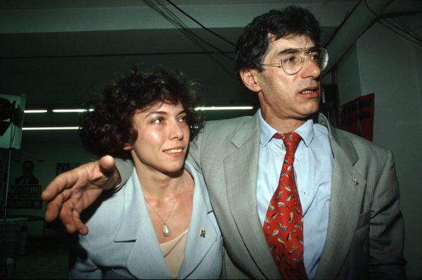 Irene Pivetti e Umberto Bossi agli albori della Lega