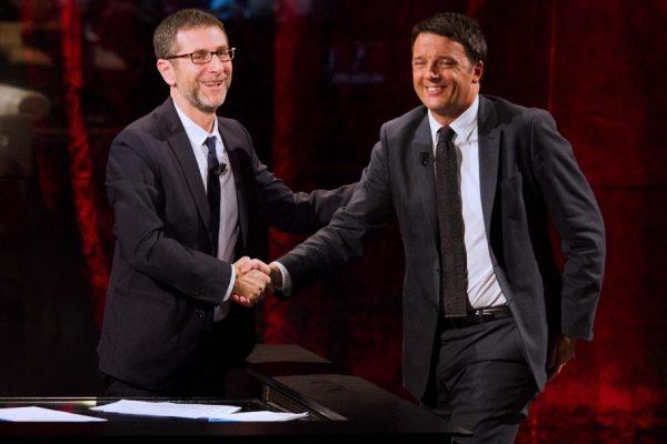 L'ex premier Matteo Renzi a Che tempo che fa (LaPresse)