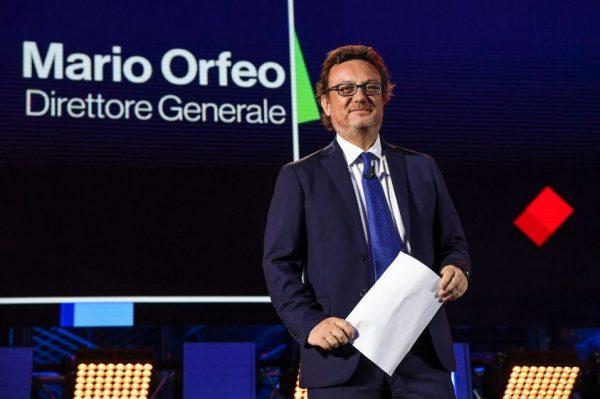 Mario Orfeo alla presentazione dei palinsesti autunnali