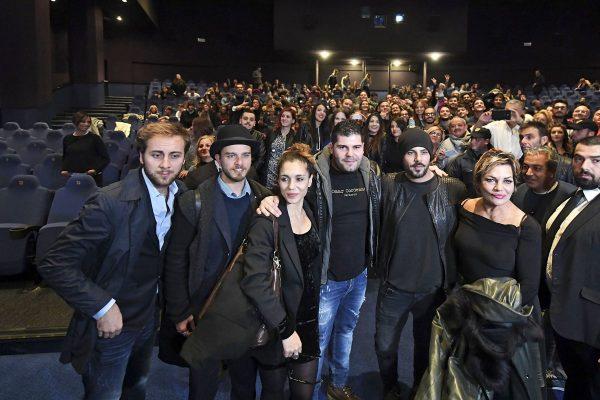 Il  cast della terza stagione di Gomorra all'anteprima all'Ex Dogana di Roma