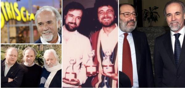 Ricci con Boldi e Villaggio, con Grillo ai Telegatti e con Umberto Eco