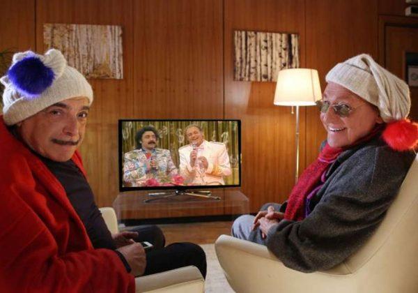 Nino Frassica e Renzo Arbore in versione natalizia