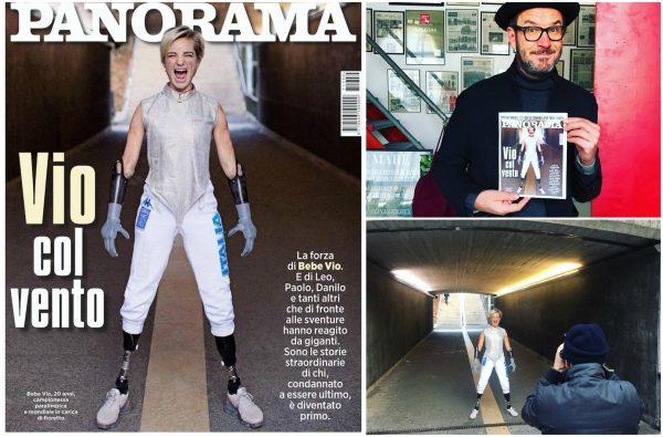 La copertina di Panorama con la foto di Stefano Benedusi