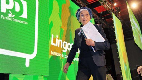 Emma Bonino alla convention del Pd al Lingotto di Torino
