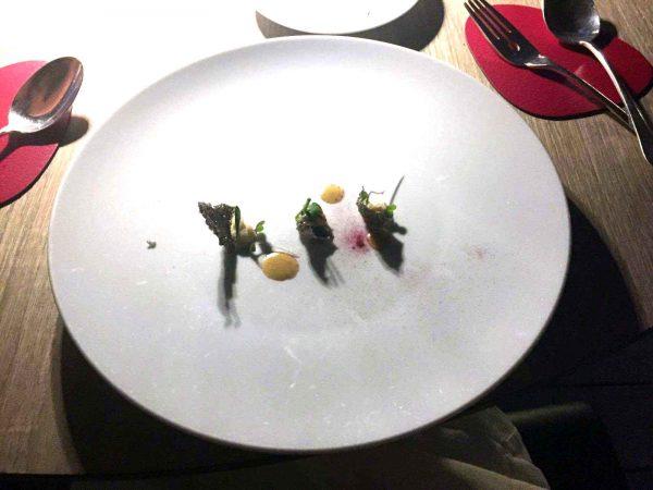 La foto dell'antipasto o «amuse-bouche» postata da Milena Gabanelli