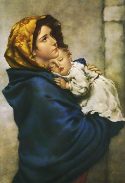 La Madonnina dipinta da Roberto Ferruzzi Nel 1896, Il soggetto era Angelina Cian, una ragazza di Venezia e in origine il dipinto si intitolava Maternità